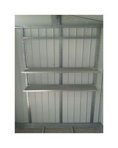 Estanteria caseta 22x131x185cm accesorio duramax pvc palladium estanteria 40001 123750
