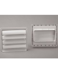 Ventana extraccion aire tubo rectangular ignifugo y autoextinguible salida exterior 150x75mm polipropileno blanco sist 120 tubpla 0850-c