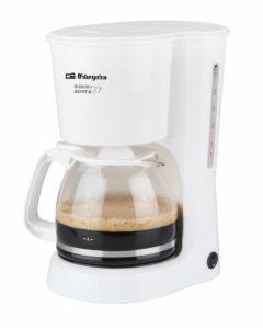 Cafetera electrica goteo 800w 15tz cristal blanco orbegozo cg 4023 b
