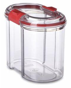 Bote cocina hermetico 1l plastico transparente cierre seguridad tatay