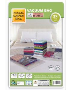 Bolsa ordenacion vacio ropa ahorra espacio 80x100cm magic