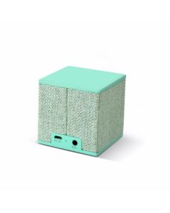 Altavoz bluetooth cubo fresh'n rebel verde menta rockbox cube fabric peppermint