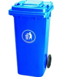 Contenedor basura con ruedas tapa 120 lt plastico azul natuur nt125868