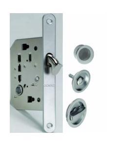 Cerradura puerta corredera con muletilla/boton/dedal niquel 1095q redonda ocariz