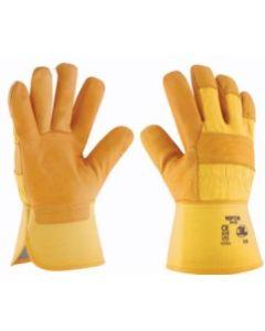 Guante siderurgia americano reforzado piel flor vacuno amarillo gp-022 3l nipon t-8         cf-126098