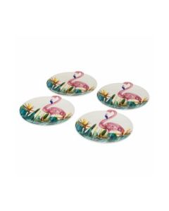 Plato mesa llano rdo  24 x 23 x 2,30 cm porcel flamingo unimasa