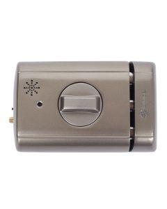 Cerrojo sobreponer electronico 110+26x87x35mm metalico cromado lince 4940tkhc