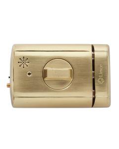 Cerrojo sobreponer electronico 110+26x87x35mm metalico dorado lince