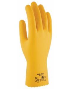 Guante quimico flocado latex amarillo duo tex 3l rf-1 t-7
