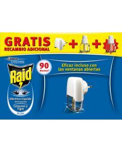 Trampa mosquitos electrico 1 ap + 2 rec 2 pz raid j309466