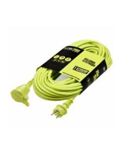 Prolongador electricidad jardin 3x1,5mm 10mt  3680v 230v verde masterplug