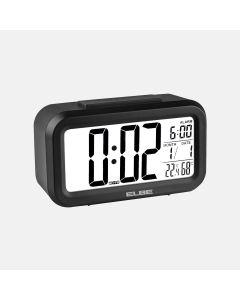 Reloj despertador digital negro elbe