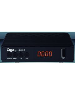 Receptor television hdmi euroconector tdt t2 giga tv negro gtv-209-0       128254