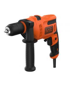 Taladro percutor 500w sin llave 13mm black+decker