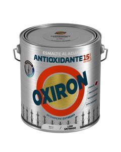 Esmalte antioxi. sat. ext. liso 2,5 lt bl oxiron al agua titan