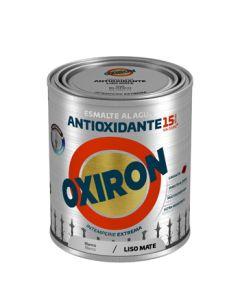 Esmalte antioxi. mate ext. liso 750 ml bl oxiron al agua titan