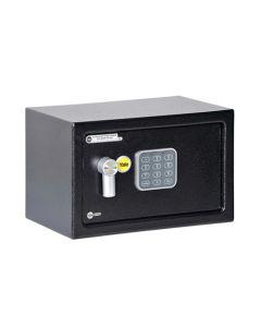 Caja fuerte seguridad con alarma 200x310x200 negro yale