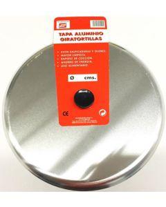 Tapa cocina giratortillas 26cm aluminio tecnhogar
