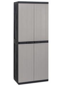 Armario ordenacion 3 baldas alto 2 puertas 65x37x165cm natuur negro/gris midi 302 nt128617
