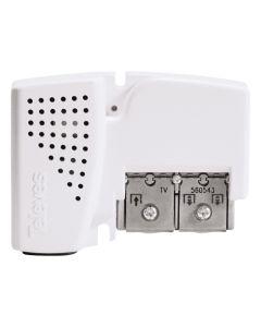 Amplificador antena 1 entrada 3 salidas coaxial hogar televes 47-790mhz g10/16 aut aju+dc 1 ud 560543