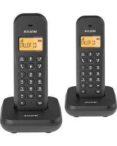 Telefono inalambrico duo negro e155duo alcatel