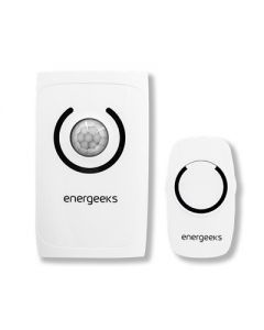 Alarma inalambrica mini con detector movimiento plastico blanco energeeks eg-alt001