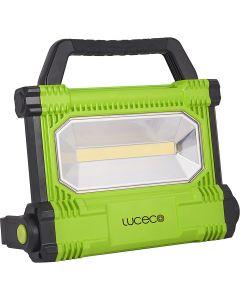 Proyector iluminacion negro/verde aluminio luceco led plano 1 ud lwr25bg-eu