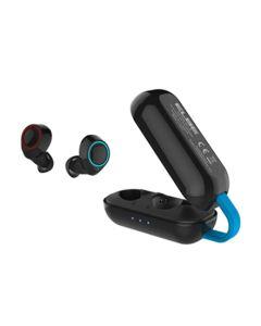 Auricular multimedia bluetooth plastico negro elbe abtws-001-n