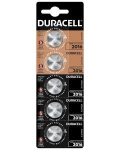 Pila boton cr2016 litio duracell 5 pz 5000394072022