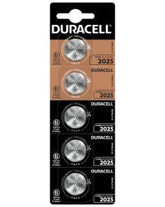 Pila boton cr2025 litio duracell 5 pz 5000394071841