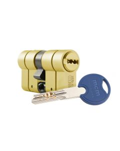 Cilindro seguridad doble embrague 30x30mm laton scx plus mcm scx+de:30-30