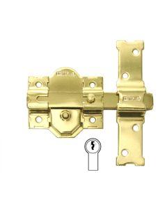 Cerrojo sobreponer bombillo 50mm cadena retenedora 86mm acero dorado 31 dorado interfer 831316