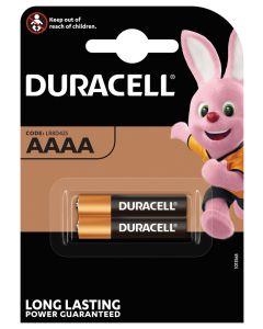 Pila alcalina lr61 aaaa 1,5v duracell 2 pz 5000394041660