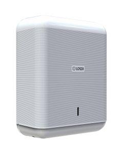 Dispensador baño industrial toalla 600pz zig-zag 358x276x130mm abs blanco eco luxe losdi 1 ud cp-3009-b