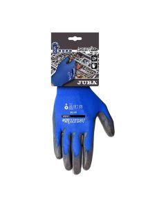 Guante montaje palma poliuretano m08 nylon azul/negro agility lite juba