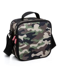 Bolsa porta alimentos enrollable 250x300x260mm 4,2l poliester verde camuflaje casual tatay 1 ud 1167517
