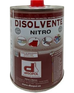Disolvente nitrocelulosico envase metalico 1 lt disopol         129707