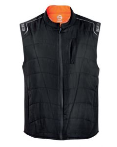 Chaleco trabajo multibolsillo acolchado s poliester negro padded vest sparco