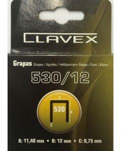 Grapa clavadora 12mm acero 530 clavex 1.000 pz 4459