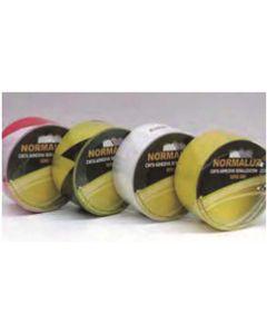 Cinta adhesiva 50mmx25mt señalizacion normaluz vinilo negra/amarilla rd80400
