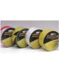 Cinta adhesiva 80mmx25mt señalizacion normaluz vinilo negra/amarilla rd80600