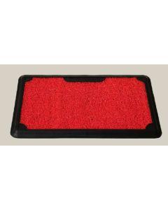 Felpudo desinfectante 45x70x2cm rectangular dintex vinilo rojo pro-safe con bandeja 55549   130074