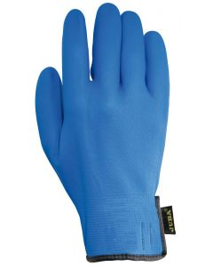 Guante trabajo m8 forro nylon juba nitrilo me azul agility blue