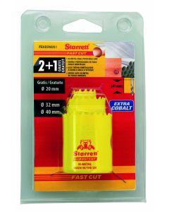 Corona perforadora ø 20-32-40mm bimetal fast cut starrett 3 ud 130180 130180