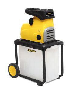 Triturador-bio madera 2800w electrico garland amarillo negro chipper 355 le 60el 130203