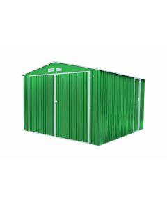 Garaje coche doble puerta 380x420x232cm metal verde norfolk gardiun kis12963     130214