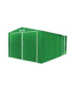 Garaje coche doble puerta 380x540x232cm metal verde oxford gardiun kis12771         130216