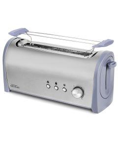 Tostador 1000w cecotec steel&toast 1l una ranura larga 3036