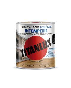 Barniz madera brillante incoloro 250 ml al agua ecologico interior/exterior titanlux m24100014