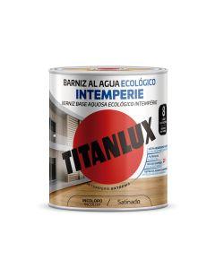 Barniz madera brillante incoloro 750 ml al agua ecologico exterior titanlux  co